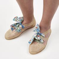 K106 GOLD GLITTER  Bathing Shoes