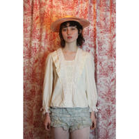 1970s ruffle blouse