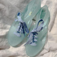 k106 bathing shoes - blue glitter