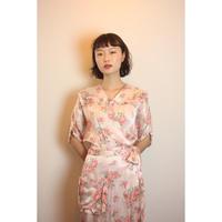 D564 1940s Floral Silk dress