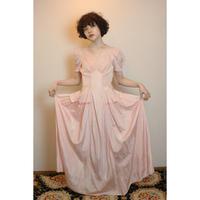 1940s pink satin dress