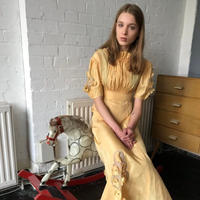 1940s Yellow Dress