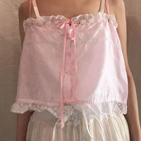 French antique camisole pink