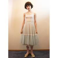 1960s Blue nylon dress with heart trim