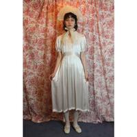 1930-40s silk satin dress