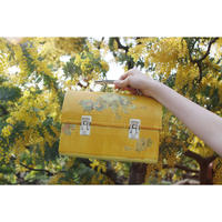Floral painted bag (yellow)
