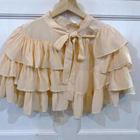 1930s peach silk cape