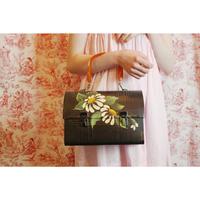 Floral painted bag (black)
