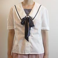 T246 1970s LAURA ASHLEY Sailor Blouse