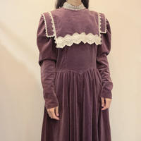 GUNNE SAX wine red velvet sailor dress