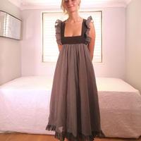 gina fratini 1970s dot dress