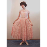 1950s Pink chiffon dress