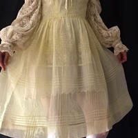 Lemon Yellow organdy dress