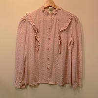 1970s pink floral top
