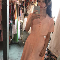 Peach floral dress N1924