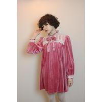 Raspberry pink velvet dress
