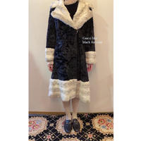 vintage fur coat  black/white