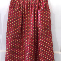 F-troupe 1950's  floral print skirt Red