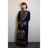 D623 Purple velvet dress
