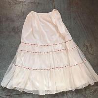 Floral ribbon tape tutu skirt