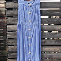 1950's stripe sleeveless dress