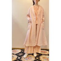 pink quilted gown