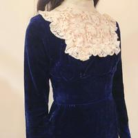 Royal blue velvet long dress
