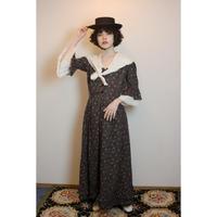 Vintage hand made sailor collar floral dress