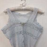 antique  baby blue cotton top