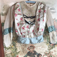 Antique floral bodice