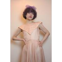 1950s pink dress with rhinestones