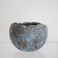 sabi bowl L / 緑青
