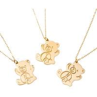 Promise Bear|K10ダイヤモンドイニシャルネックレス