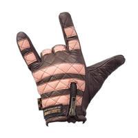 Leather glove /  Pink × Chocolate