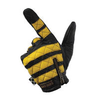 Leather glove / yellow x Black