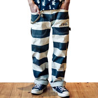 Prisoner pants 白×黒 囚人パンツ プリズナーパンツ ホワイト×ブラック