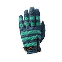 Leather glove / Blue x Mint