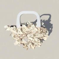 【NEW!!】basket bag / white marble × white