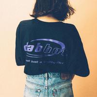 big logo tee(black × purple)