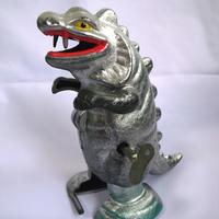 昭和レトロ KKS ゼンマイ式 シルバー 歩行怪獣 キラゴン 本体のみ