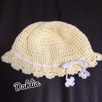 ベビー ヒラヒラ帽子Sサイズ