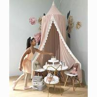 天蓋 キャノピー ミニカーテン モスキートネット ロマンチック フェミニン レース付き 蚊帳 ベッドルームデコレーション 寝室