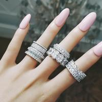 CZダイヤモンド マルチカラーストーン フルエタニティリング 選べる地金 繊細 極細 カジュアルにも重ね付けにも エタニティリング