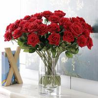バラ 高級造花 大量25本 薔薇 ローズ  アートフラワー シルクフラワー アレンジメント 花束 ブーケ プレゼント お祝い 結婚式 赤