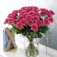 バラ 高級造花 大量25本 薔薇 ローズ アートフラワー シルクフラワー アレンジメント 花束 ブーケ プレゼント お祝い 結婚式 ローズピンク