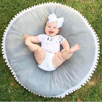 プレイマット ベビーマット サニーマット ラウンド クッション インスタ映え 大きい かわいい 赤ちゃん ベビー 子ども リボーンドール