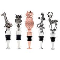 HOMESTIA 高級ワイングッズ ワインストッパー ボトルストッパー 1本 選べるモチーフ バー用品 ワイン用品 ギフト プレゼント にも