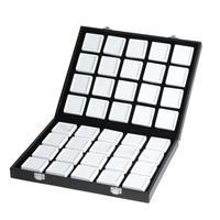 宝石ルースケース40個+オーガナイザーセット 大量 携帯用 ポータブルボックス コンパクト 原石 ディスプレイ トランクショー 展示会 黒