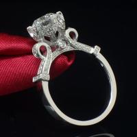 レディース 繊細クラシカルなエンゲージリング CZダイヤモンド 高級キュービックジルコニア指輪  Silver925 キラキラ プレゼントにも 8号/9号/10号/12号/14号/16号