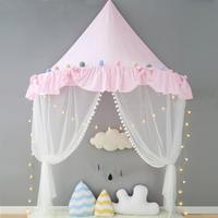 キッズルーム ミニカーテン 夢の子供部屋 天蓋 キャノピー 蚊帳 テント ベビーベッド ゆりかご プリンセス お姫様 可愛いインスタ映え